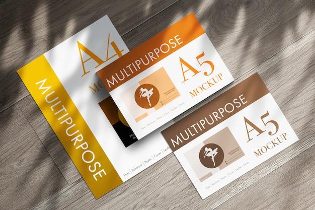 Maquete de papéis a4 multiuso