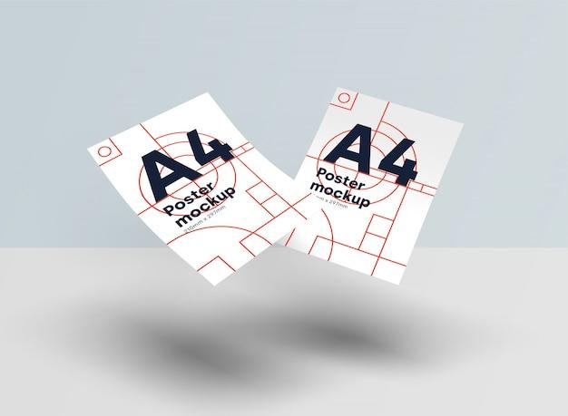Maquete de papel a4 psd gravidade