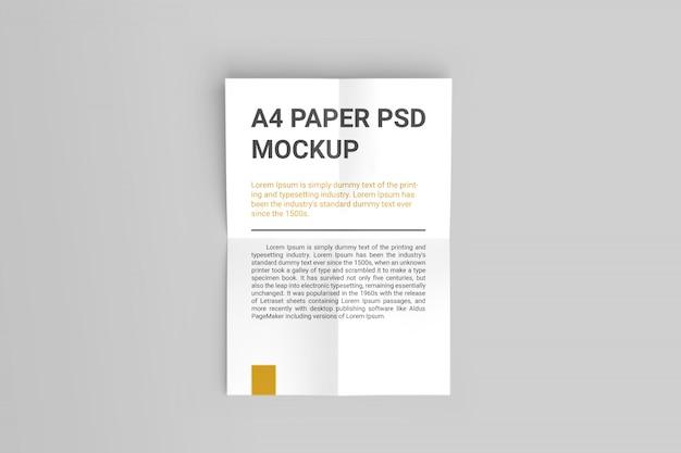 Maquete de papel a4