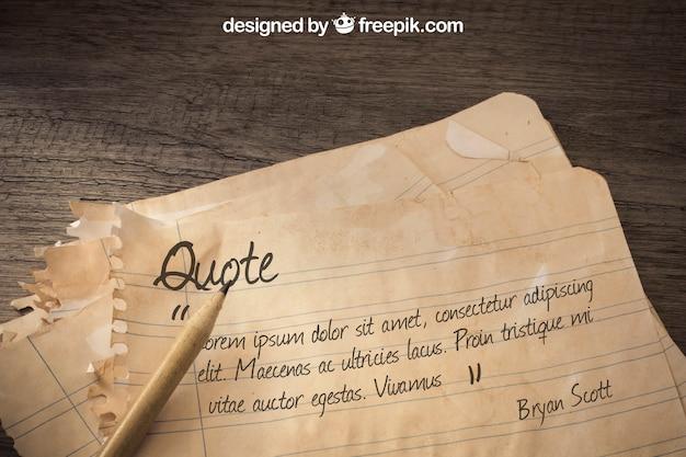 Maquete de papel antigo com conceito de vela e aventura