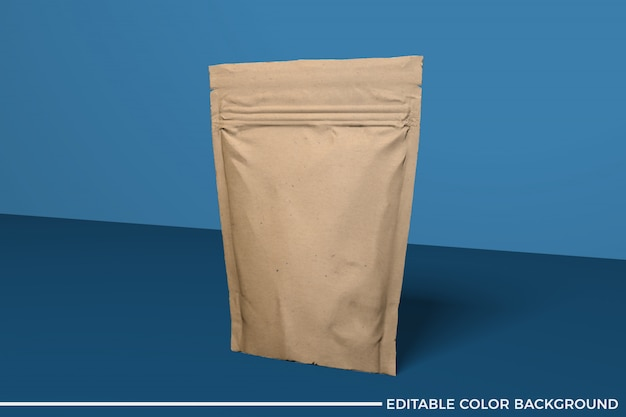 Maquete de papel bolsa de alimentos