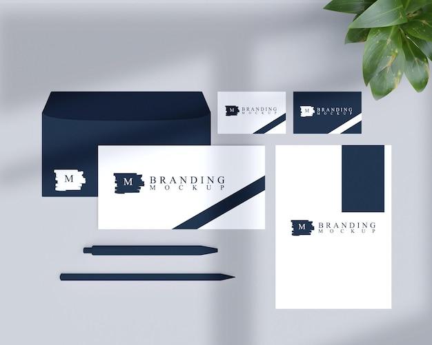 Maquete de papel de carta do elemento de branding