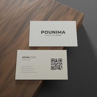 Maquete de papel de cartão de visita texturizado simples