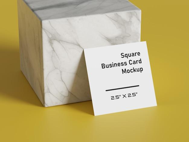 Maquete de papel de forma quadrada branca. modelo de apresentação de marca de impressão.