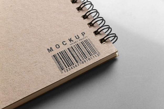 Maquete de papel de logotipo.