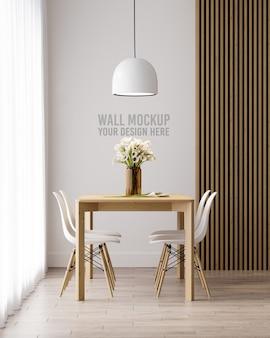 Maquete de papel de parede da sala de jantar interna