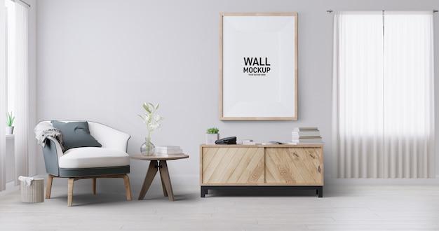 Maquete de papel de parede da sala interior.