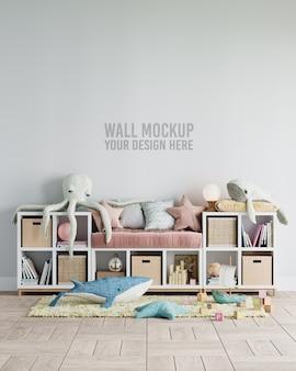 Maquete de papel de parede do interior do quarto infantil