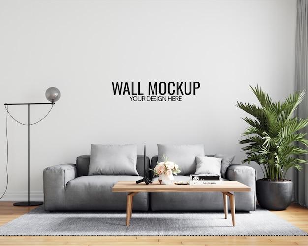 Maquete de papel de parede interior