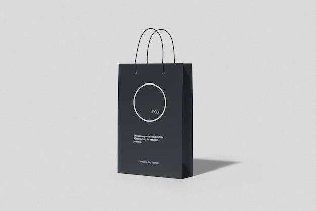 Maquete de papel de sacola de compras