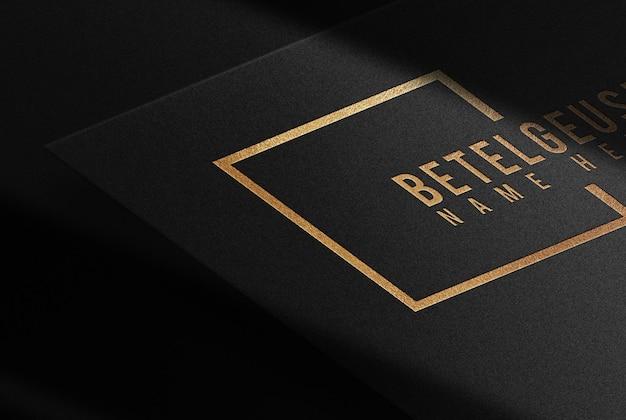 Maquete de papel dourado em relevo luxuoso