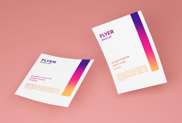 Maquete de papel flyer psd premium