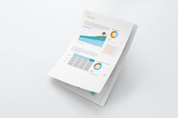 Maquete de papel grampeado