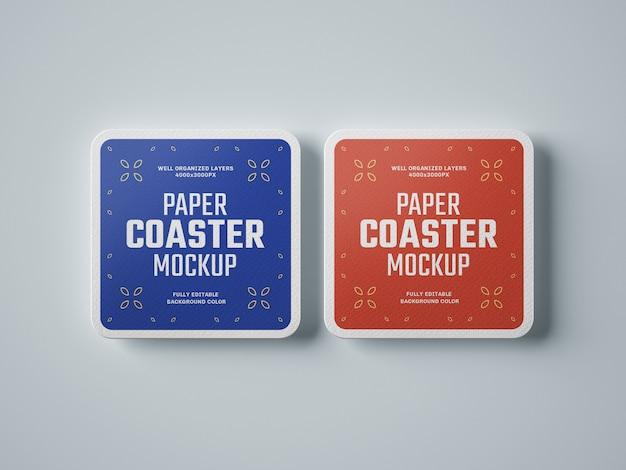 Maquete de papel para copos de bebidas