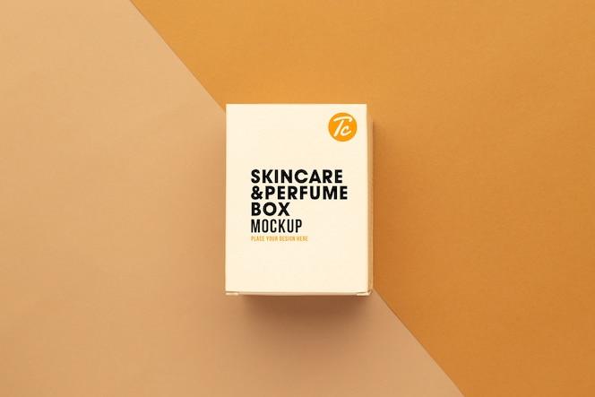 Maquete de papel para pele ou caixa de perfume