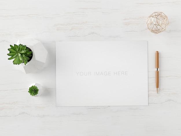 Maquete de papel tamanho a4 horizontal