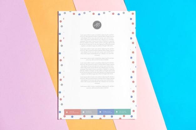 Maquete de papel timbrado moderno