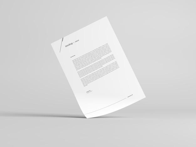 Maquete de papel timbrado