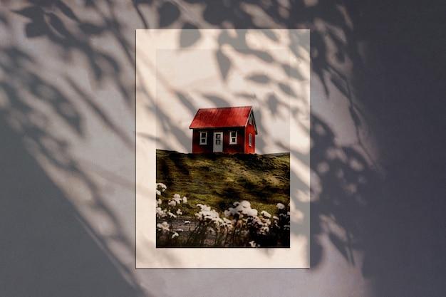 Maquete de papelaria com sobreposição de sombra