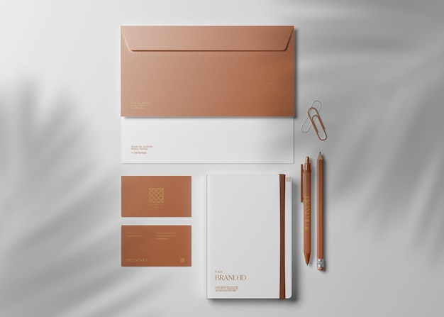 Maquete de papelaria corporativa
