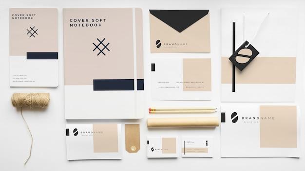 Maquete de papelaria de capa