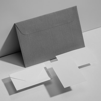 Maquete de papelaria de escritório