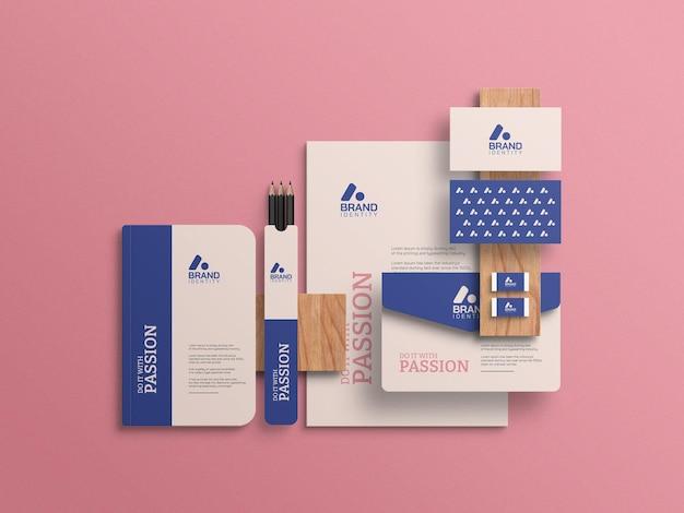 Maquete de papelaria de identidade visual