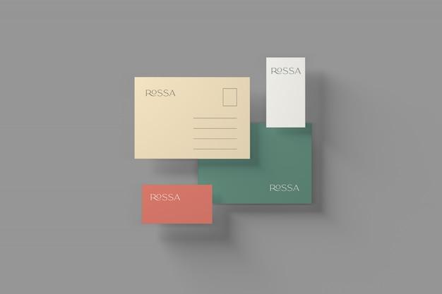 Maquete de papelaria de marca