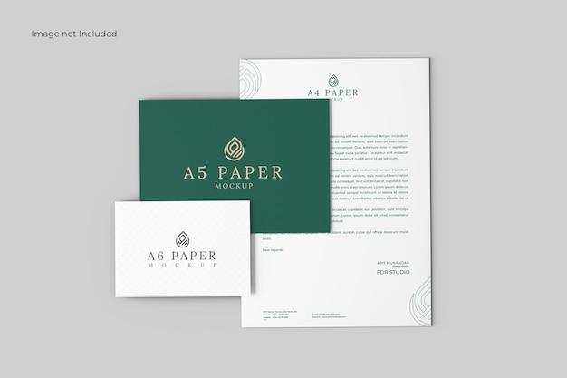 Maquete de papelaria elegante
