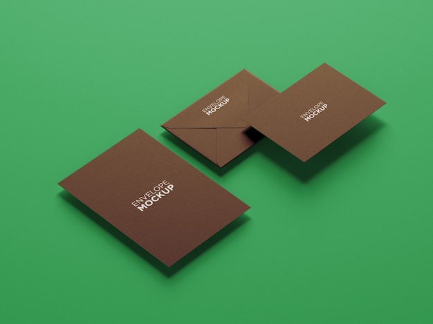 Maquete de papelaria minimalista de vista lateral isolada
