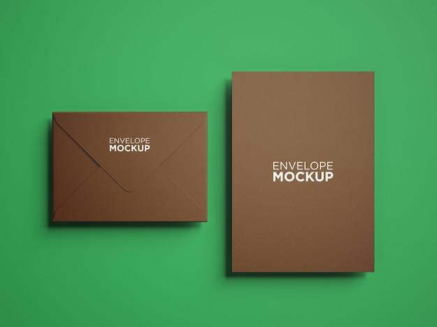 Maquete de papelaria minimalista de vista superior isolada Psd Premium