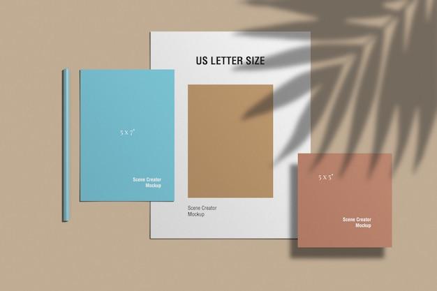 Maquete de papelaria minimalista