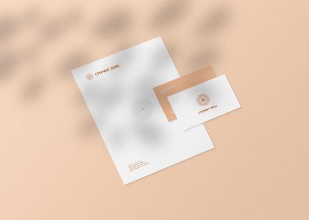 Maquete de papelaria realista