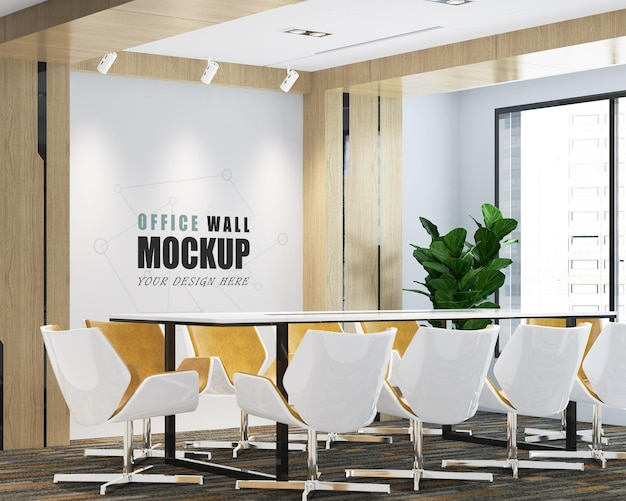 Maquete de parede com design moderno de sala de reunião