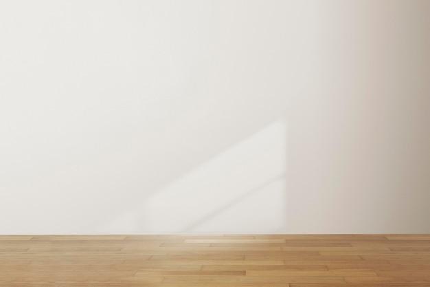 Maquete de parede da sala vazia psd design de interior mínimo