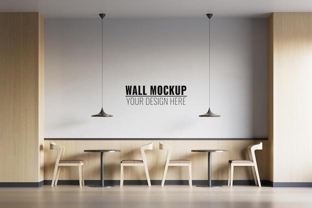 Maquete de parede de cafeteria interna