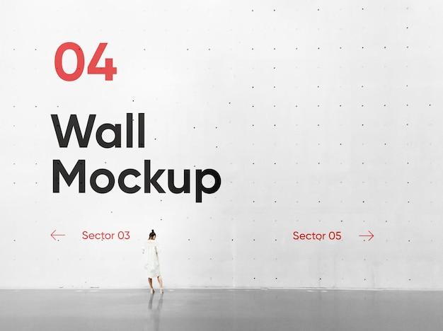 Maquete de parede de concreto