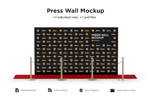 Maquete de parede de imprensa isolada