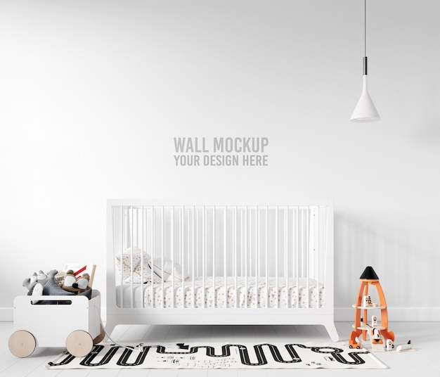 Maquete de parede de sala de jogos infantil