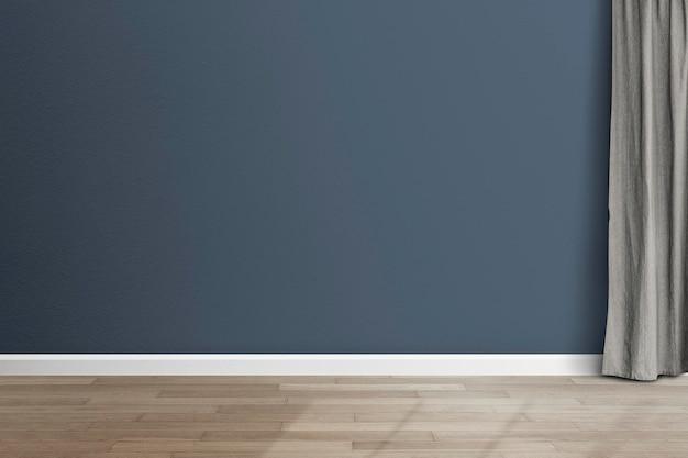 Maquete de parede de sala vazia psd design de interior moderno