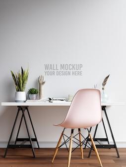 Maquete de parede do espaço de trabalho interior