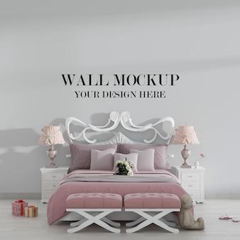Maquete de parede do quarto aconchegante da princesa