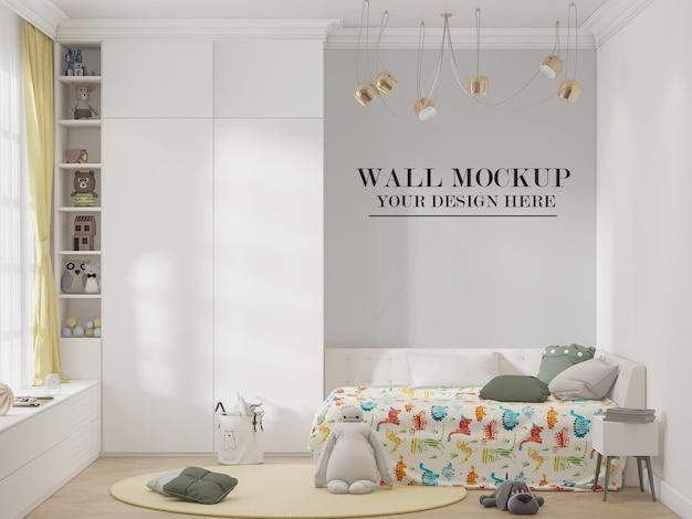 Maquete de parede do quarto de crianças lindas