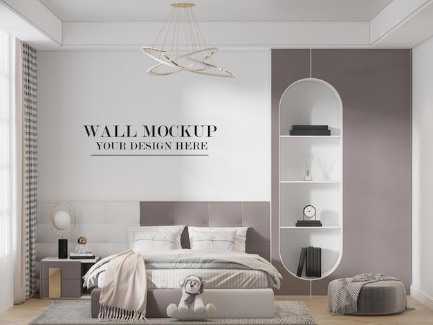 Maquete de parede do quarto de menina adolescente