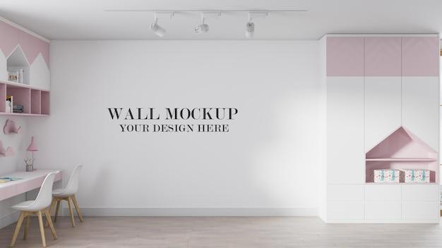 Maquete de parede do quarto infantil aconchegante