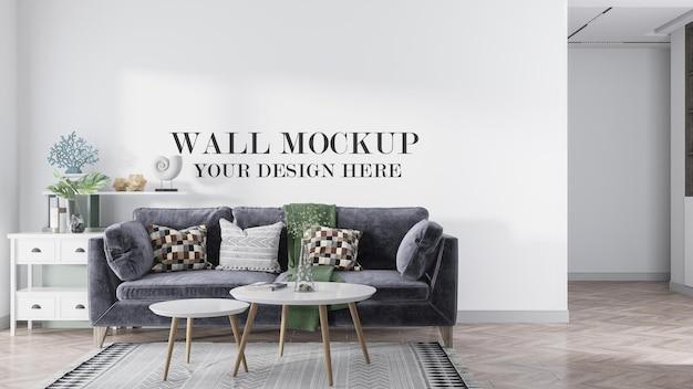 Maquete de parede em apartamento escandinavo