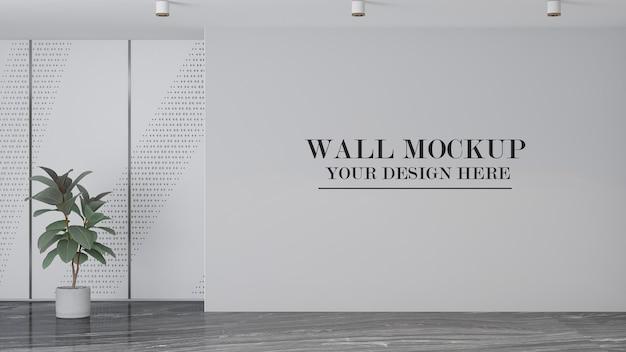 Maquete de parede em branco para suas texturas