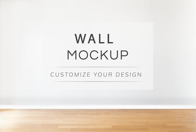 Maquete de parede em branco