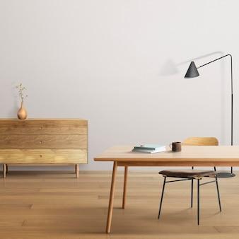 Maquete de parede em estilo japonês de sala de estar