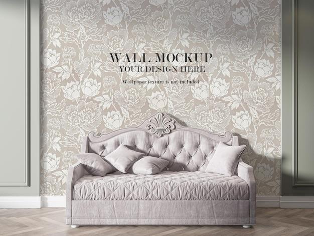 Maquete de parede interior de estilo vintage em renderização 3d